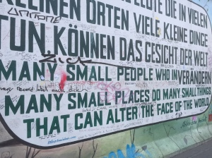 Taken at the East Side Gallery in Berlin.